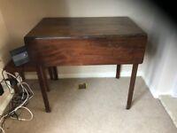 Wood foldable sidetable