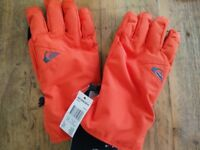 Quicksilver Cross Orange Ski Gloves (large)