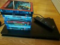 Sony Blu-ray dvd player and DVDs