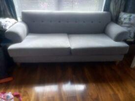 Memory Foam Grey Sofa (2off)