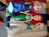 3 original Disney princess dolls