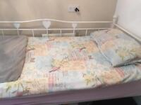Curtains and matching single bedding