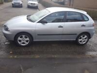 Seat Ibiza on 54 plate with 96,000 miles and M.O.T.