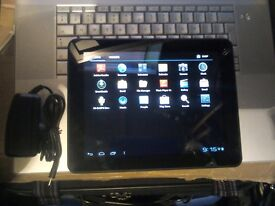"""10"""" tablet and charger"""