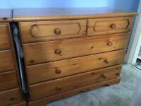 Chest of Drawers. Solid pine by Hamlet.