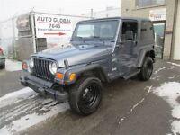 2002 Jeep TJ Sport,5 VITESSES,4X4,PLANCHE TRÉS BON,FRIME ARRIER