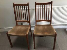 Original 1970's retro dining chairs * 4