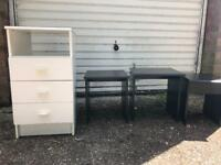 Free draws and small side tables