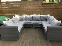 Yakoe Papaver Outdoor Corner Sofa Rattan Set - Delivery Available