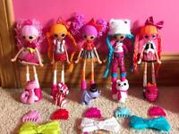 Lalaloopsy girls x 5 and remote control ride in car