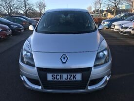 2011 MPV DIESEL RENAULT SCENIC-LEATHER INTERIOR-TOP RANGE EXAMPLE-1 FORM KEEPER-FULL SERVICE HISTORY