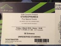 Stereophonics tickets Wembley Area 2nd March