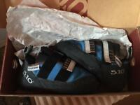 5.10 Blackwing climbing shoes, size 5 uk, new in box