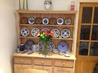 Welsh dresser limed finish. 3 cupboards and drawers. Lovely condition restored 3 years ago.
