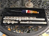 Gemeinhardt Caravelle Flute Silver in hard box with cleaning rod.