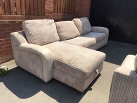 Fabric Corner Sofa & Sofa bed all in one - Good condition (DFS) - 2 + 3 seater incl sofa bed . Sold