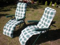 pair of garden loungers