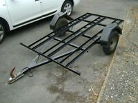 motorcycle trailer for 3 bikes metal with electrics £250 ono