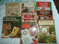 FREE.. 8 Cross Stitch Books. Collect from Basford