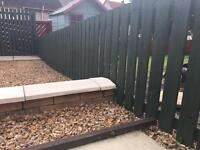 Forrest Green Wooden Fence