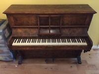 Antique Walnut Piano