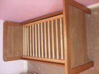 BabyStyle Calgary furniture - cotbed, wardrobe, changing unit and shelf