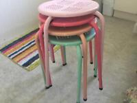 Multi coloured stools x 4