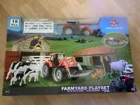 Massey Ferguson Farmyard Playset