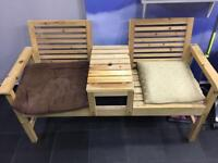 Wooden Seats Waiting Area