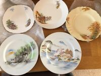 Decorative plates assorted.