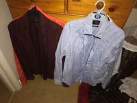 """4 x Moss Bros shirts 16.5"""" collar"""