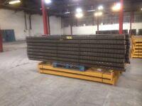 5 bay run of link pallet racking( storage , shelving )
