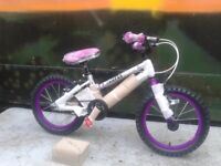 New Falcon Kids Superlite Girls 16 Inch Alloy Bike Cycle With Stabilisers - RRP £195