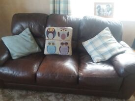 2 leather sofas