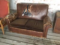 Vintage leather sofa for free