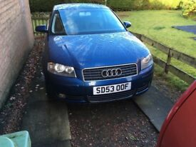 Audi. A3. Sport 1.6 three door in blue metallic