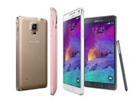 SAMSUNG GALAXY NOTE 4 UNLOCKED MINT CONDITION COMES WITH WARRANTY & RECEIPT