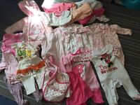 Bag of baby girl clothes - 3-6 months