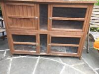 Double decker cage for rabbit or guinea pig