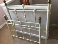 Brass cream metal bed with all fittings