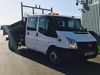 FORD TRANSIT 100 T350 RWD 'D/CAB TIPPER' (2013 MODEL) '2.2 TDCI - 6 SPEED' (1 COMPANY OWNER)