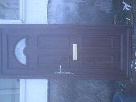 rose wood outside white inside upvc door size h 80 in w 33 in
