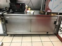 BIG 5FT COMMERCIAL HOT CUPBOARD PLATE FOOD WARMER STAINLESS STEEL FOR RESTAURANT TAKEAWAY KITCHEN