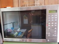 Sanyo EM-SL100N Full Size Touch Control Fan Assisted Microwave Silver