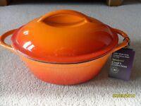 Sainsbury's Cooks Collection cast iron oval casserole