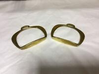 Brass small pair riding stirrups