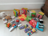 Baby toys and activity bundle