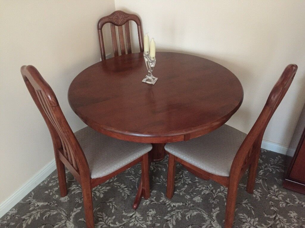 Circular Dining Table 4 Chairs Leicester