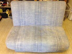 Blue sofa bed - £25