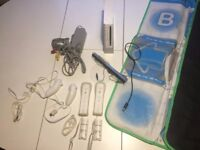 Full set of NINTENDO Wii Console with Wii Fit, balance board and accessories